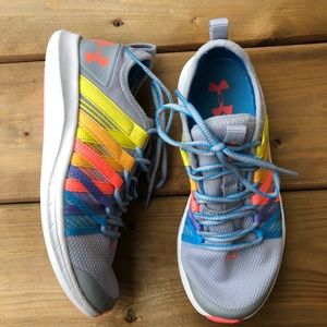 Under Armour Rainbow Ribbon Runners Sneakers Running Shoes Multi Grey